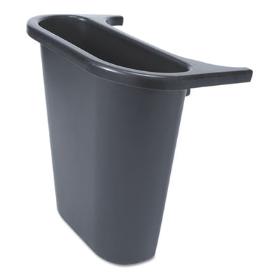 Rubbermaid Commercial Saddle Basket Recycling Bin, Rectangular, Black (FG295073BLA)