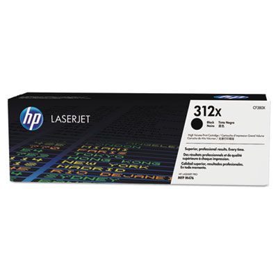 HP 312X 2-pack High Yield Black Original LaserJet Toner Cartridges (CF380XD)