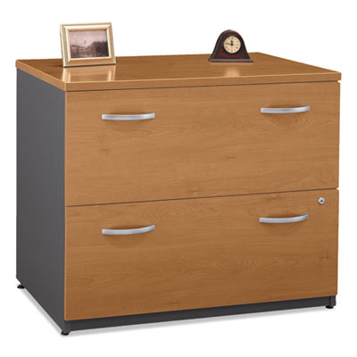Bush Series C Collection 2 Drawer 36W Lateral File (Assembled), 35.75w x 23.38d x 29.88h, Natural Cherry (WC72454CSU)
