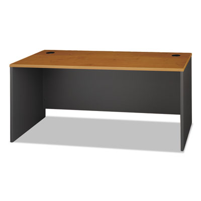 Bush Series C Collection 66W Desk Shell, 66w x 29.38d x 29.88h, Natural Cherry/Graphite Gray (WC72442A)