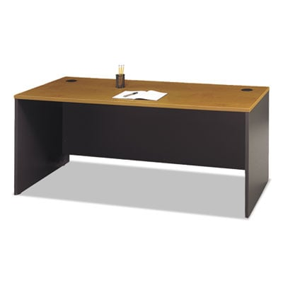 Bush Series C Collection 72W Desk Shell, 71.13w x 29.38d x 29.88h, Natural Cherry/Graphite Gray (WC72436)