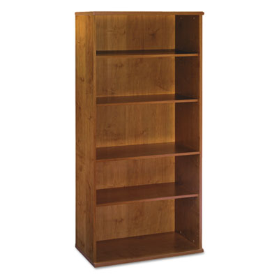 Bush Series C Collection 36W 5 Shelf Bookcase, Natural Cherry (WC72414)