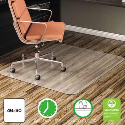 deflecto EconoMat All Day Use Chair Mat for Hard Floors, 46 x 60, Rectangular, Clear (CM21442F)