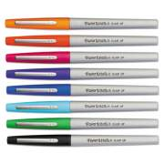 Paper Mate Flair Felt Tip Stick Porous Point Marker Pen, 0.4mm, Assorted Ink/Barrel, 8/Set (1927694)