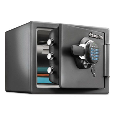 Sentry Safe Fire-Safe with Digital Keypad Access, 0.8 cu ft, 16.3w x 19.3d x 13.7h, Black (SFW082FTC)