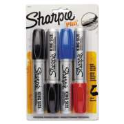 Sharpie King Size Permanent Marker, Broad Chisel Tip, Assorted Colors, 4/Set (15674PP)