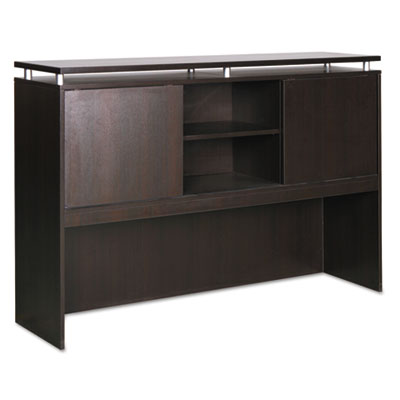 Alera Sedina Series Hutch with Sliding Doors, 72w x 15d x 42.5h, Espresso (ALESE267215ES)