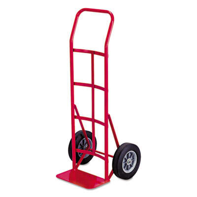 Safco Two-Wheel Steel Hand Truck, 500 lb Capacity, 18 x 44, Red (4092)