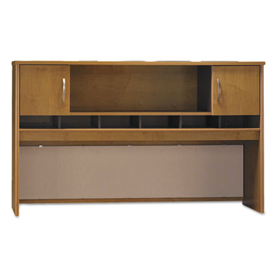 Bush Series C Collection 2 Door 72W Hutch, Box 2 of 2, 71.13w x 15.38d x 43.13h, Natural Cherry/Graphite Gray (WC72466A2)