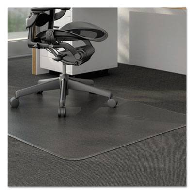 Alera Moderate Use Studded Chair Mat for Low Pile Carpet, 46 x 60, Rectangular, Clear (CM12443FALEPL)