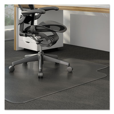 Alera Moderate Use Studded Chair Mat for Low Pile Carpet, 36 x 48, Lipped, Clear (CM12113ALEPL)