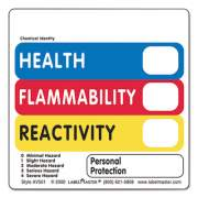 LabelMaster WAREHOUSE SELF-ADHESIVE LABELS, HEALTH, FLAMMABILITY, REACTIVITY VL, 5 X 2.88, RED/BLUE/YELLOW/WHITE, 500/ROLL (AV501)