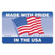 LabelMaster WAREHOUSE SELF-ADHESIVE LABELS, MADE WITH PRIDE IN THE USA, 5.25 X 3, RED/WHITE/BLUE, 500/ROLL (PD100)