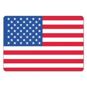 LabelMaster WAREHOUSE SELF-ADHESIVE LABELS, USA FLAG, 4.5 X 3, RED/WHITE/BLUE, 100/ROLL (USA25V)