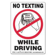 LabelMaster No Texting Self-Adhesive Labels, NO TEXTING WHILE DRIVING, 6.5 x 4.5, White/Black/Red, 500/Roll (RT30)