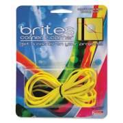 "Brites Corner-To-Corner Rubber Bands, 0.63"" x 8.5"", 2180 psi Max Elasticity, Yellow, 3/Pack"