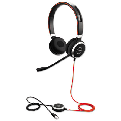 Jabra EVOLVE 40 UC Binaural Over-the-Head Headset (6399-829-209)