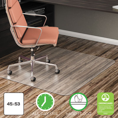 deflecto EconoMat All Day Use Chair Mat for Hard Floors, 45 x 53, Clear (CM21242COM)