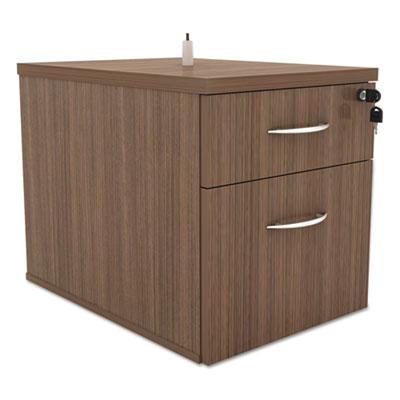 Alera Sedina Series Hanging Box/File Pedestal, 15.38w x 22d x 19.25h Modern Walnut (ALESE551622WA)