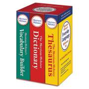 Merriam Webster Everyday Language Reference Set, Dictionary, Thesaurus, Vocabulary Builder (3328)