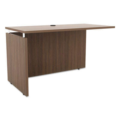 Alera Sedina Series Reversible Return/Bridge, 47 1/4 x 23 5/8 x 29 1/2, Walnut (ALESE234824WA)
