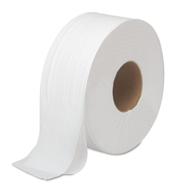 "Boardwalk JRT Bath Tissue, Jumbo, Septic Safe, 2-Ply, White, 3.5"" x 1000 ft, 12 Rolls/Carton (6100B)"
