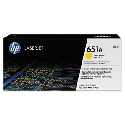 HP 651A Yellow Original LaserJet Toner Cartridge for US Government (CE342AG)