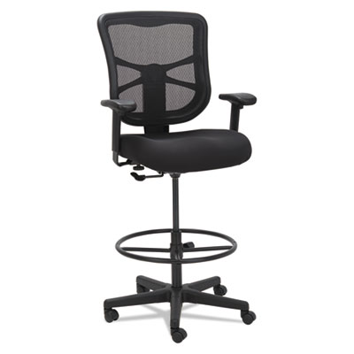 "Alera Elusion Series Mesh Stool, 33.13"" Seat Height, Supports up to 275 lbs., Black Seat/Black Back, Black Base (ALEEL4614)"