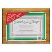 NuDell Award-A-Plaque Document Holder, Acrylic/Plastic, 10-1/2 x 13, Oak (18812M)