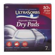 "Medline Ultrasorbs Disposable Dry Pads, 23"" x 35"", Blue, 7/Box (DRY2336RET7)"