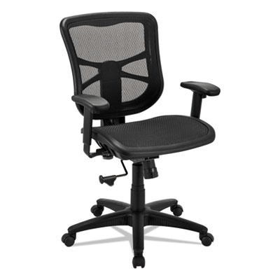 Alera Elusion Series Mesh Mid-Back Swivel/Tilt Chair, Supports up to 275 lbs., Black Seat/Black Back, Black Base (ALEEL42B18)