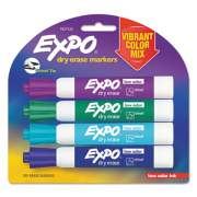 EXPO Dry Erase Marker, Broad Chisel Tip, Assorted Colors, 4/Pack (1927522)