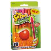 Mr. Sketch Scented Wax Crayons, Assorted, 18/Pack (1951331)
