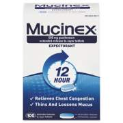Mucinex Expectorant Regular Strength, 100 Tablets/Box (00815BX)