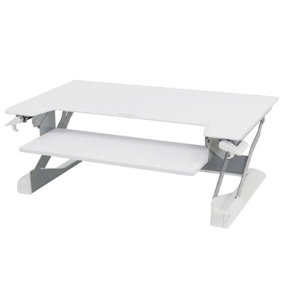 WorkFit by Ergotron WorkFit-TL Desktop Sit-Stand Workstation, 37.5w x 25d x 20h, White (33-406-062)