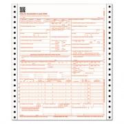 Adams CMS Health Insurance Claim Form, 9-1/2 x 11, Three-Part, 100 Continuous Forms (CMS1500CV)