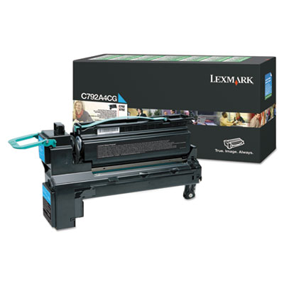Cyan Compatible Toner Replacement for Lexmark X792X1CG X792X2CG