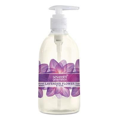 Seventh Generation Natural Hand Wash, Lavender Flower & Mint, 12 oz Pump Bottle (SEV 22926)