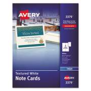 Avery Textured Note Cards, Inkjet, 4 1/4 x 5 1/2, Uncoated White, 50/Bx w/Envelopes (3379)