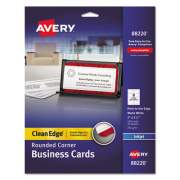 Avery Round Corner Print-to-the-Edge Business Cards, Inkjet, 2 x 3 1/2, White, 160/PK (88220)