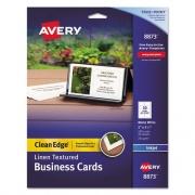 Avery Linen Texture True Print Business Cards, Inkjet, 2 x 3 1/2, Linen White, 200/Pk (8873)