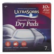"Medline Ultrasorbs Disposable Dry Pads, 23"" x 35"", White, 7/Box, 6/Carton (DRY2336RETCT)"