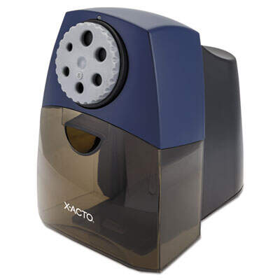 "X-ACTO TeacherPro Classroom Electric Pencil Sharpener, AC-Powered, 5.75"" x 8.5"" x 8"", Blue (1675LMR)"