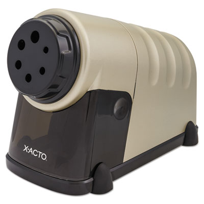 """X-ACTO Model 41 High-Volume Commercial Electric Pencil Sharpener, AC-Powered, 4"""" x 8.75"""" x 5.5"""", Beige (1606LMR)"""