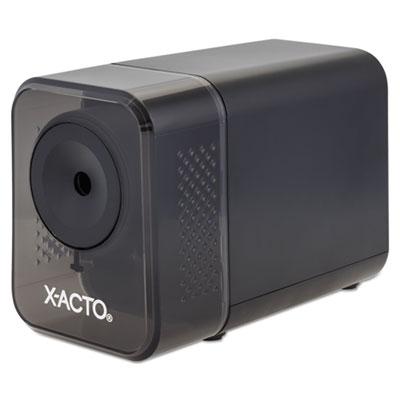 "X-ACTO XLR Office Electric Pencil Sharpener, AC-Powered, 3"" x 5.5"" x 4"", Charcoal Black (1818LMR)"