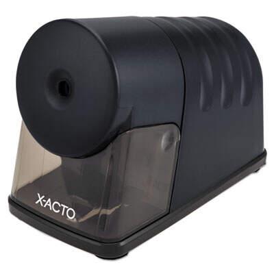 "X-ACTO Powerhouse Office Electric Pencil Sharpener, AC-Powered, 3"" x 6.25"" x 4.5"", Black (1799LMR)"