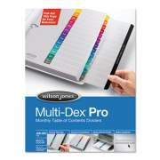 Wilson Jones Multi-Dex Pro Quick Reference Index System, 12-Tab, Jan. to Dec., 11 x 8.5, White, 1 Set (54732)