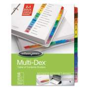 Wilson Jones Multi-Dex Table of Contents Dividers, 15-Tab, 1 to 15, 11 x 8.5, White, 1 Set (91503)