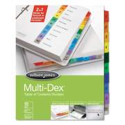 Wilson Jones Multi-Dex Table of Contents Dividers, 10-Tab, 1 to 10, 11 x 8.5, White, 1 Set (91003)