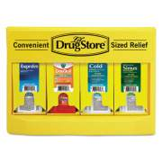 Lil' Drugstore Cold and Flu Single Dose Dispenser, 170-Pieces, Plastic Case, Yellow/Black (71992)